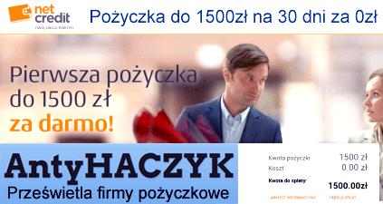 Link to Antyhaczyk: Net Credit / InCredit - opinie... Pierwsza pożyczka